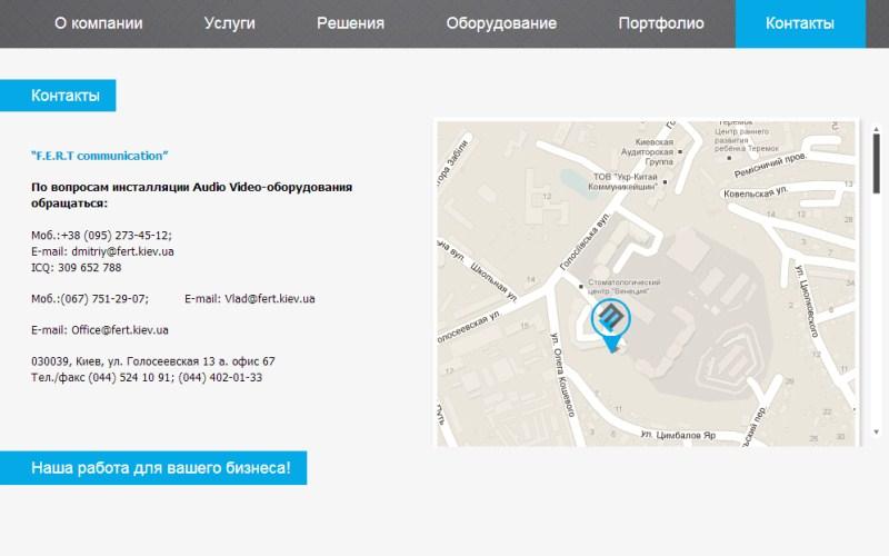 оформление сайта киев