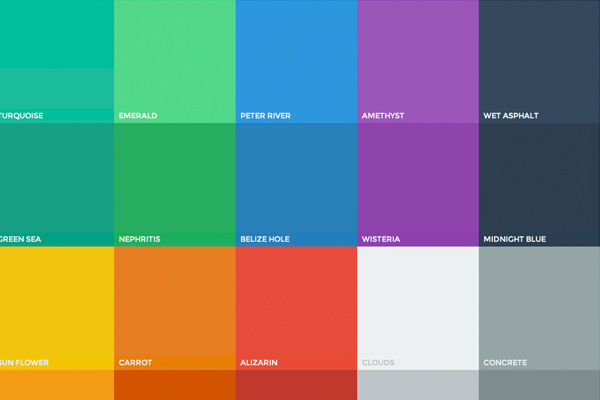 Палитра flat дизайна - WEB24