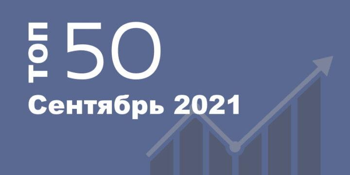 ТОП 50 Популярных Сайтов Украины. Сентябрь 2021